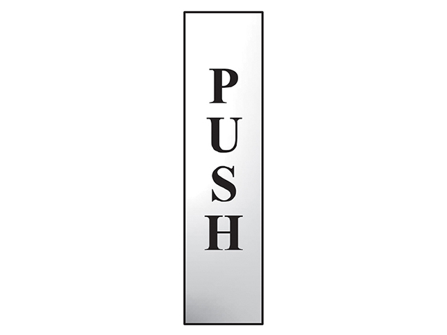 Scan Push Vertical - Polished Chrome Effect 50 x 200mm SCA6032C
