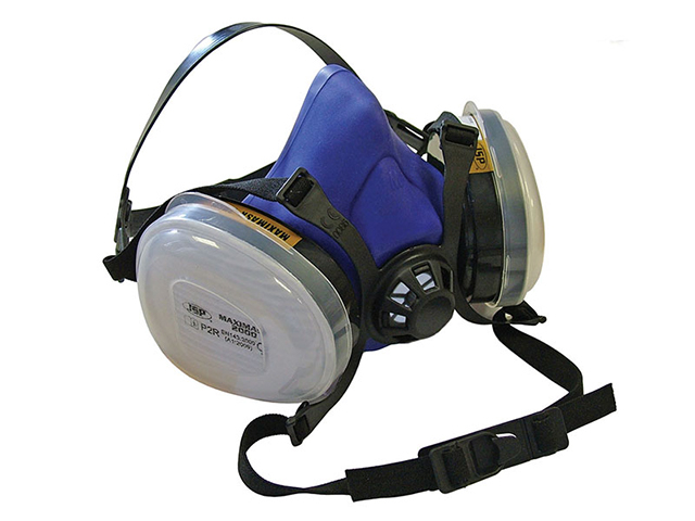 Scan Twin Half Mask Respirator + P2 Dust Filter Cartridges SCAPPERESPP2