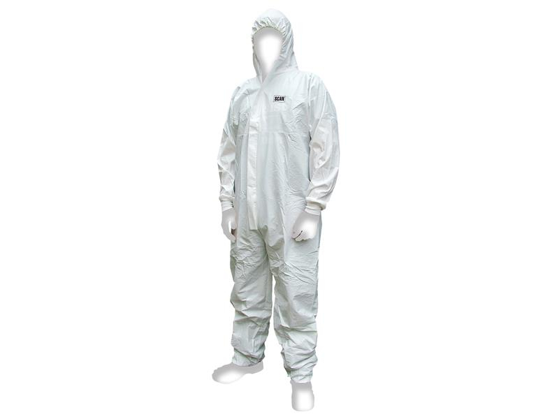 Scan Chemical Splash Resistant Disposable Coverall White Type 5/6 XL (42-45in) SCAWWDOXL56