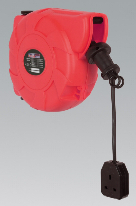 Sealey Cable Reel System Retractable 10mtr 1 x 230V Socket