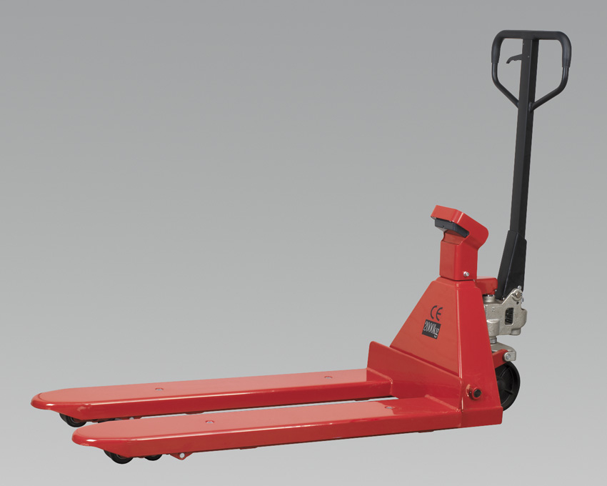 Sealey Pallet Truck 2000kg 1150 x 555mm with Scales