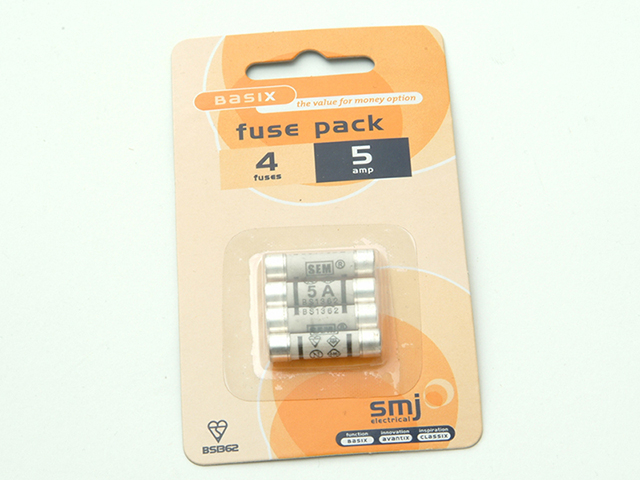 SMJ 5A Fuses (Pack of 4) SMJFU05AC