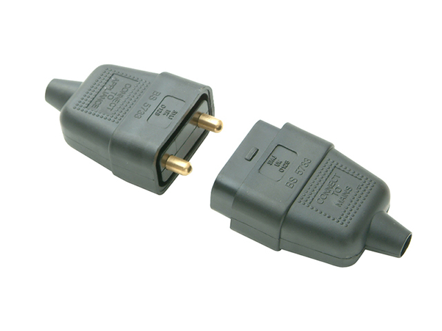 SMJ Black Plug & Socket 10A 2 Pin SMJRC2PBC