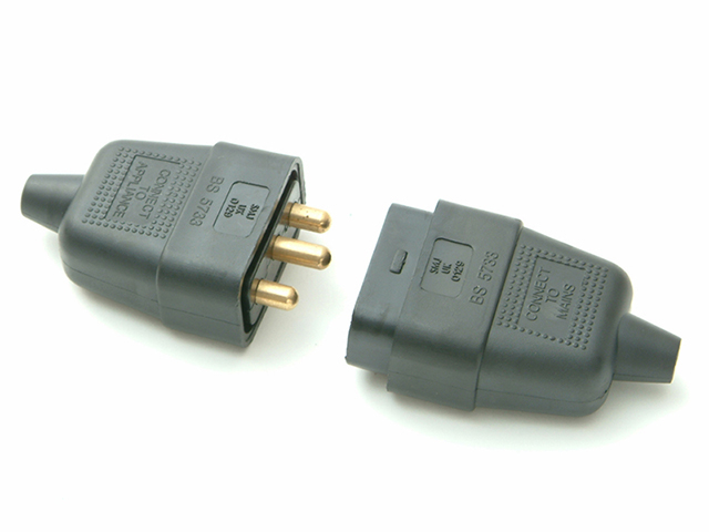 SMJ Black Plug & Socket 10A 3 Pin SMJRC3PBC