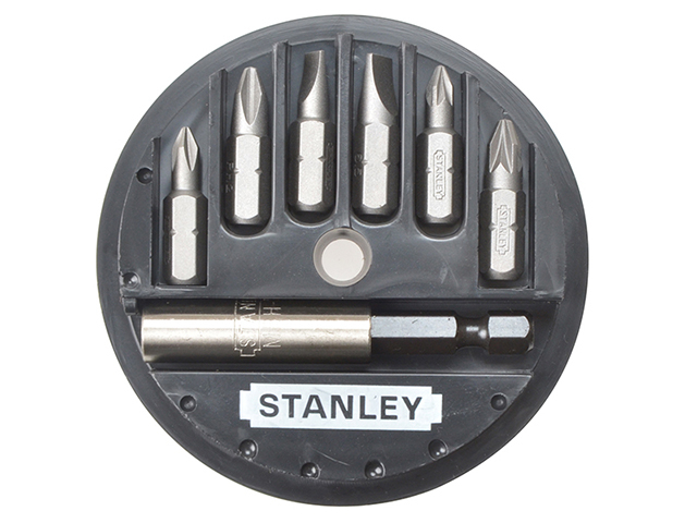Stanley Tools Insert Bit Set Phillips/Slotted/Pozidriv 7 Piece STA168737