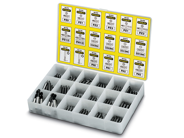 Stanley Tools Insert Bits Assorted Tray 200 Pozi / Phillips/ Slotted STA168741
