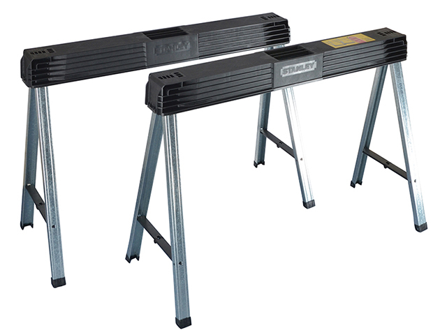 Stanley Tools Folding Metal Leg Sawhorses (Twin Pack) STA197475