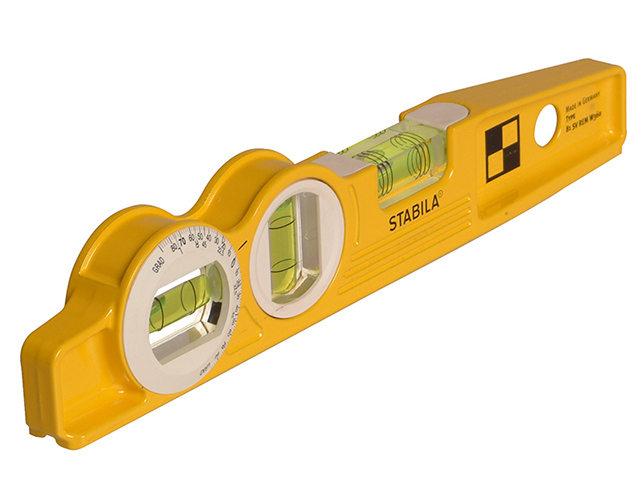 Stabila 81 SV REM W45 Rare Earth Magnetic Torpedo Level 25cm Fixed STB81SVW45