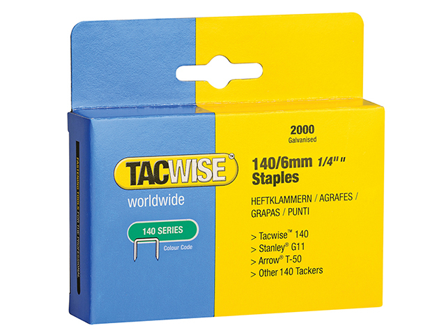 Tacwise 140 Heavy-Duty Staples 6mm (Type T50  G) Pack 2000 TAC0345