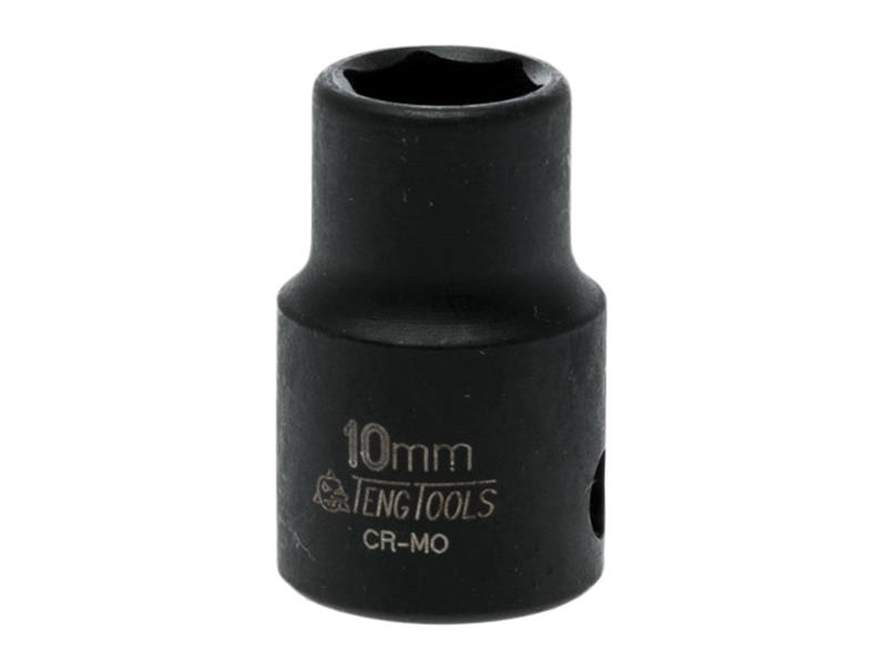 Teng Impact Socket Hexagon 6 Point 3/8in Drive 10mm TEN980510