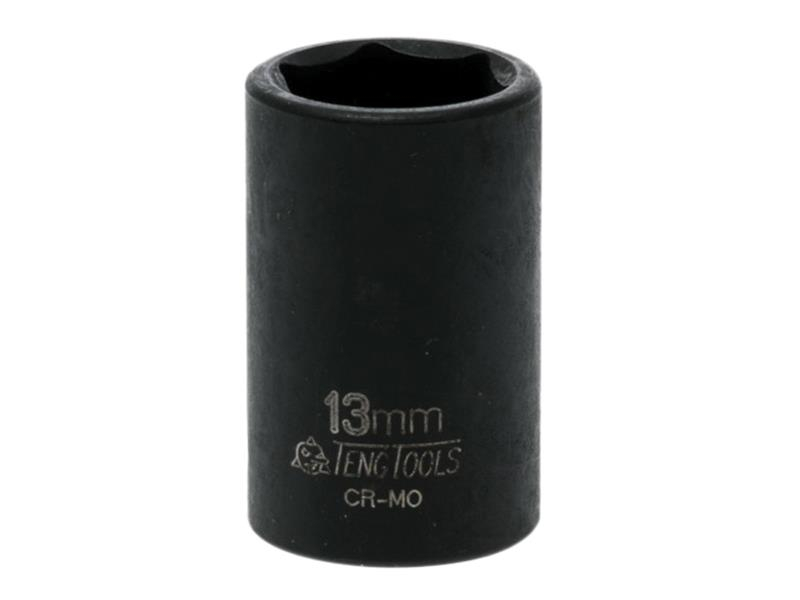 Teng Impact Socket Hexagon 6 Point 3/8in Drive 13mm TEN980513