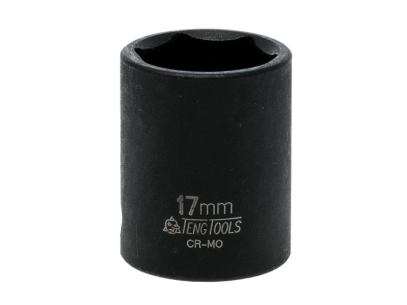 Teng Impact Socket Hexagon 6 Point 3/8in Drive 17mm TEN980517