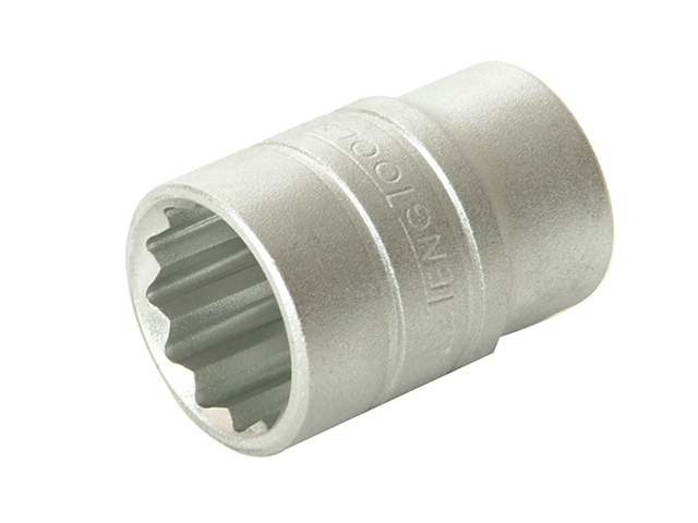 Teng Bi-Hexagon Socket 12 Point Regular A/F 1/2in Drive 1.in TENM120132