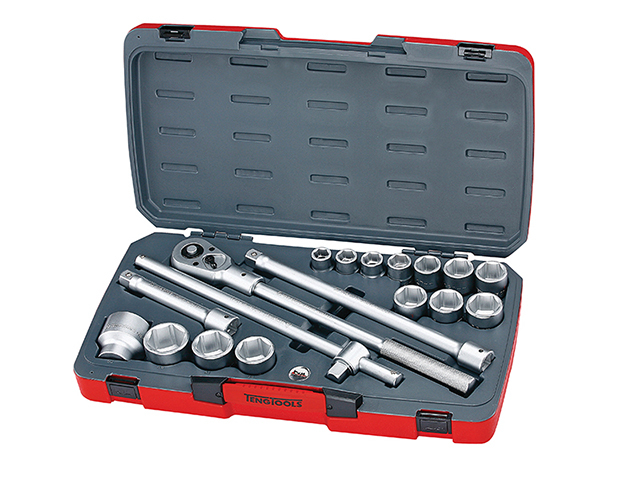 Teng T3418-6 Socket Set of 18 Metric 3/4in Drive TENT34186