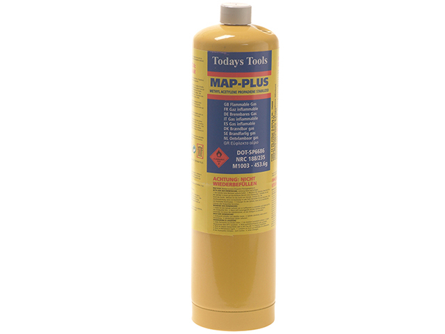 Todays Tools Yellow Map-Plus Gas Cylinder 453g TODMAPP