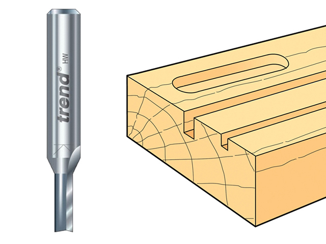Trend 3/01 x 1/4 TCT Two Flute Cutter 4.0mm x 11mm TRE30114TC