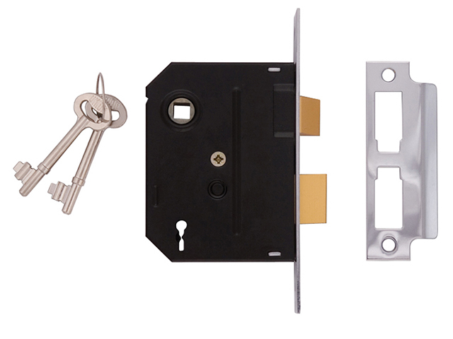 UNION 2295 2 Lever Mortice Sashlock Polished Brass 63mm 2.5in Box UNNJ2295PL25