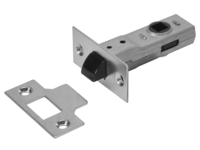 UNION J2600 3.0 Tubular Latch Essentials Zinc Plated 79mm 3in Boxed UNNJ2600ZP30