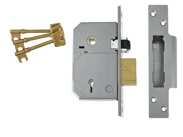 3K74E C-Series 5 Lever Mortice Rollerbolt Sashlock Brass 67mm