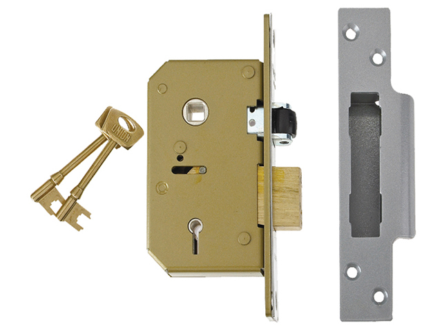 UNION 3K75 C-Series 5 Lever Sashlock Brass 80mm UNNV3K75PL80
