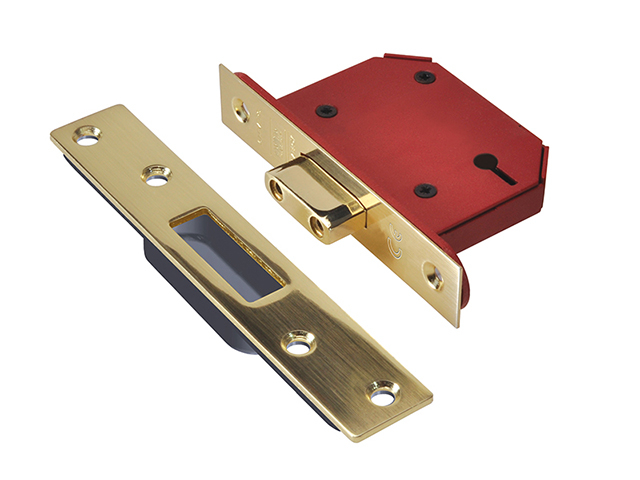 UNION StrongBOLT 2103S 3 Lever Mortice Deadlock Polished Brass 68mm 2.5in Visi UNNY2103PB25