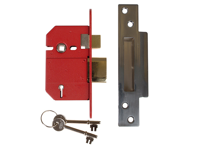 StrongBOLT 2200S BS 5 Lever Mortice Sashlock Satin Chrome 68mm Visi