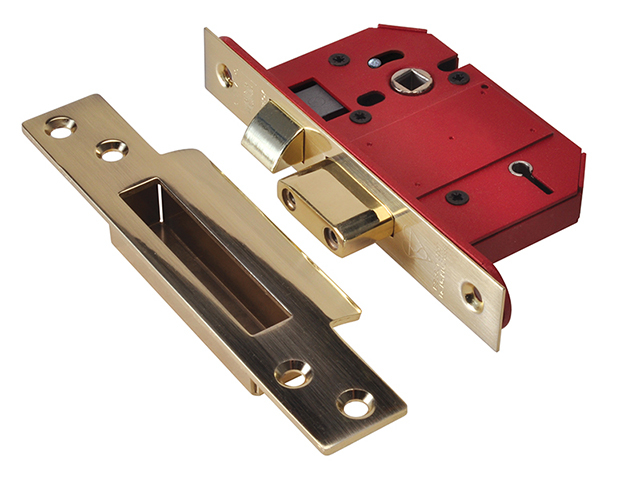 UNION StrongBOLT 2200S BS 5 Lever Mortice Sashlock Satin Brass 68mm Visi UNNY2200SP25