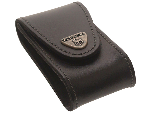 Victorinox Black Leather Belt Pouch (5-8 Layer) VIC4052130
