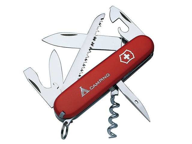 Camper Swiss Army Knife Red Blister Pack