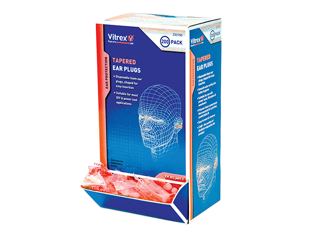 Vitrex Tapered Earplugs (Pack 200) VIT333150