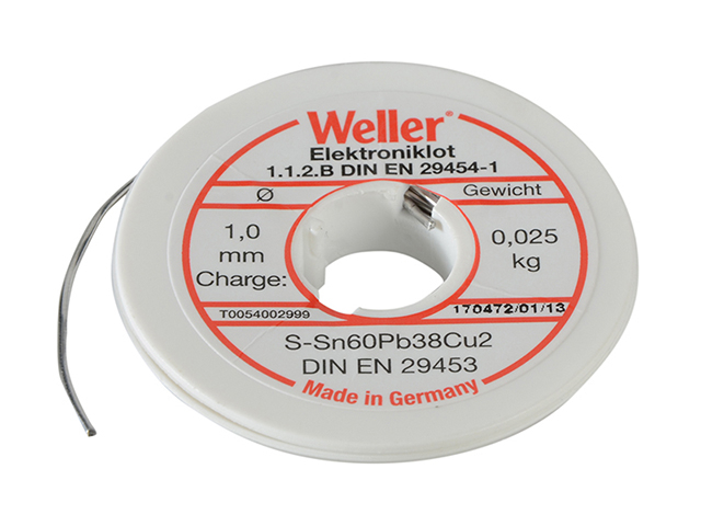 Weller EL60/40-25 Electronic Solder Resin Core 25g WEL54002999