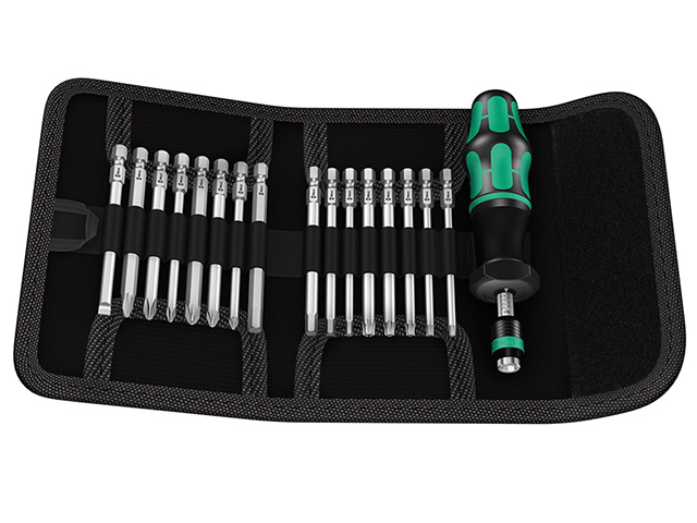 Wera Kraftform Kompakt 60 Torque Screwdriver Set of 17 1.2-3.0Nm WER059293