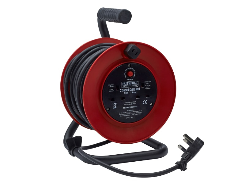 Faithfull Power Plus Cable Reel 20m 13A