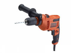 Black & Decker Hammer Drill 500W 240V with Drill Bit Set, 8 Piece