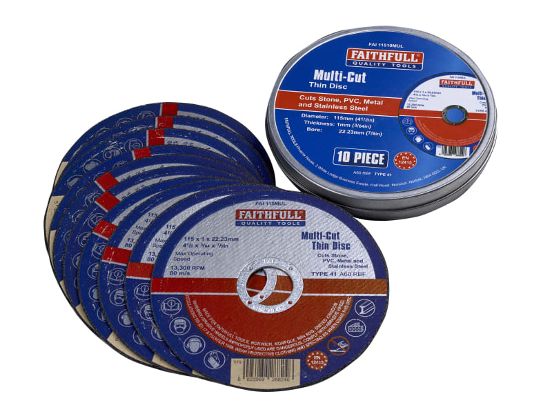 Faithfull Multi-Cut Cut Off Wheels (Pack 10)
