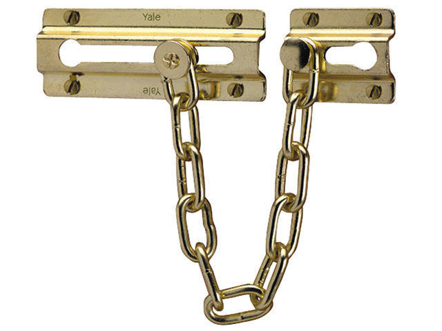 Yale Locks P1037 Door Chain Brass Finish YALP1037PB