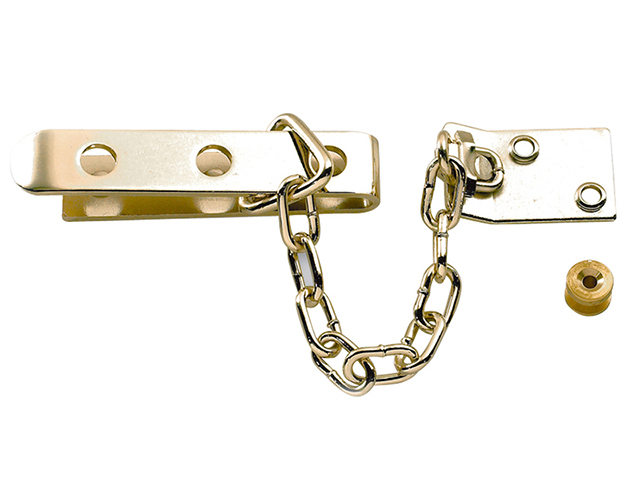 Yale Locks P1040 High Security Door Chain Brass Finish YALP1040PB