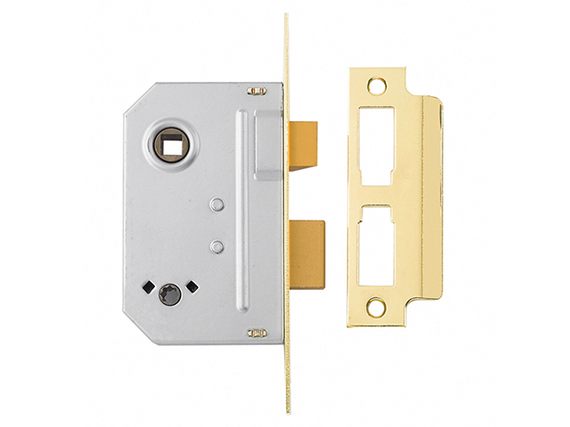Yale Locks PM236 Bathroom 2 Lever Sashlock Polished Brass 67mm 2.5in YALPM236PB25