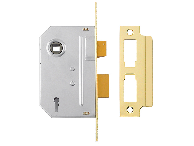 Yale Locks PM246 Internal 2 Lever Mortice Sashlock Polished Brass 67mm 2.5in YALPM246PB25