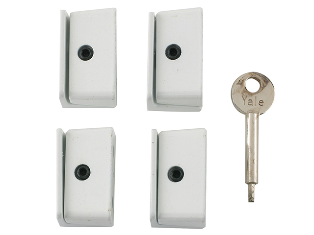 Yale Locks 8K109 Window Stop White Pack of 4 Visi YALV8K1094WE
