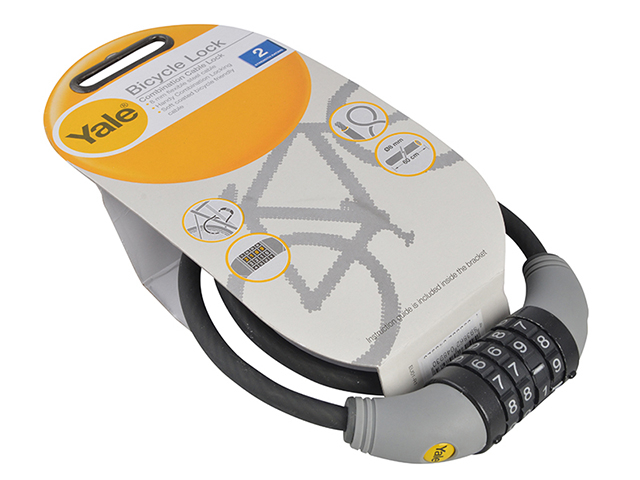 Yale Locks YCCL1 Combination Cable Bike Lock 60cm x 8mm YALYCCL1860