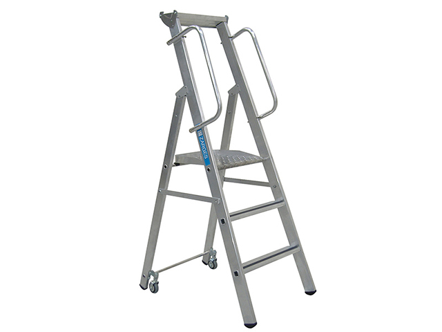 Zarges Mobile Mastersteps, Platform Height 0.78m 3 Rungs ZAR341632