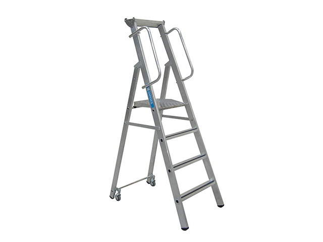 Zarges Mobile Mastersteps, Platform Height 1.32m 5 Rungs ZAR341634