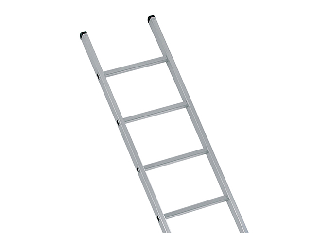 Zarges Industrial Single Aluminium Ladder with Stabiliser Bar 4.17m 14 Rungs ZAR41554