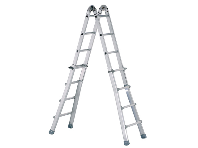 Industrial Telescopic Combination Ladder 4 x 6 Rungs